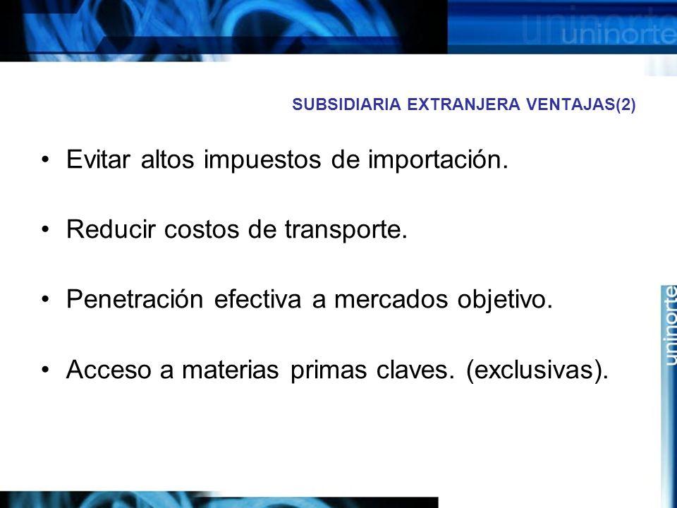 SUBSIDIARIA EXTRANJERA VENTAJAS(2)