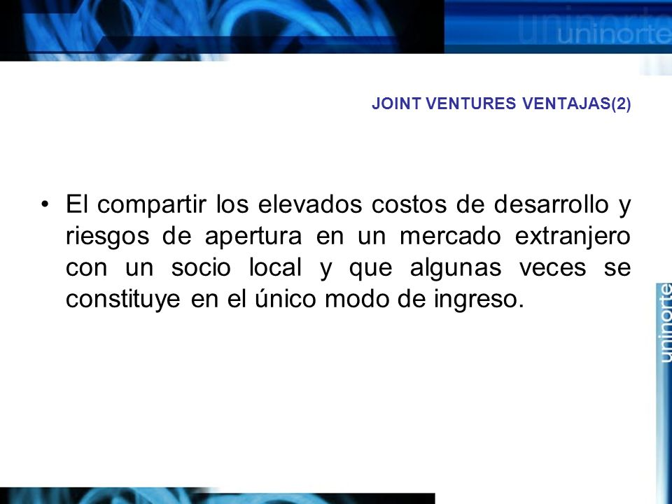 JOINT VENTURES VENTAJAS(2)