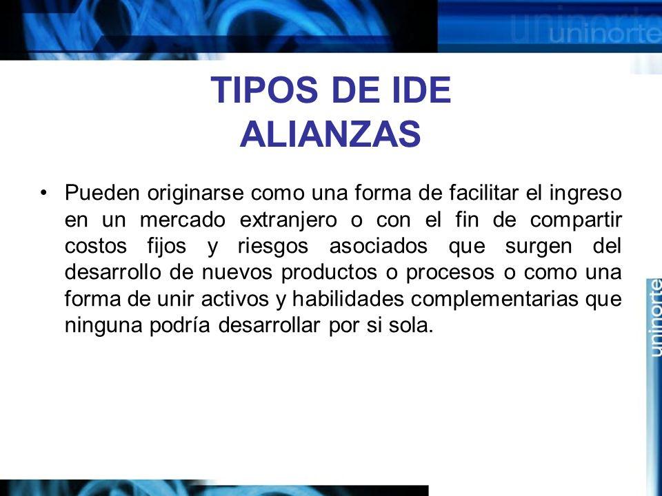 TIPOS DE IDE ALIANZAS