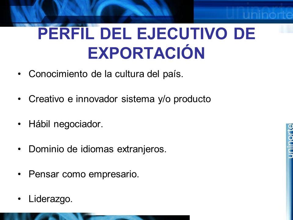 PERFIL DEL EJECUTIVO DE EXPORTACIÓN