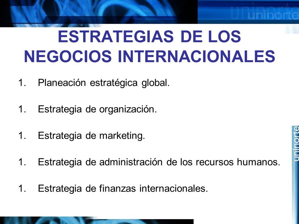 ESTRATEGIAS DE LOS NEGOCIOS INTERNACIONALES