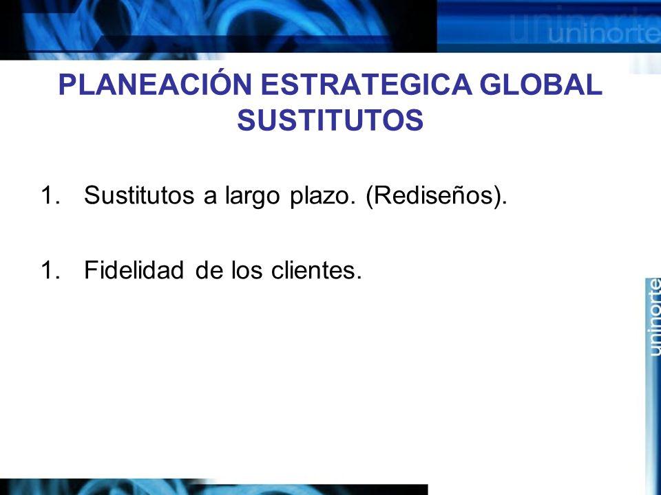 PLANEACIÓN ESTRATEGICA GLOBAL SUSTITUTOS