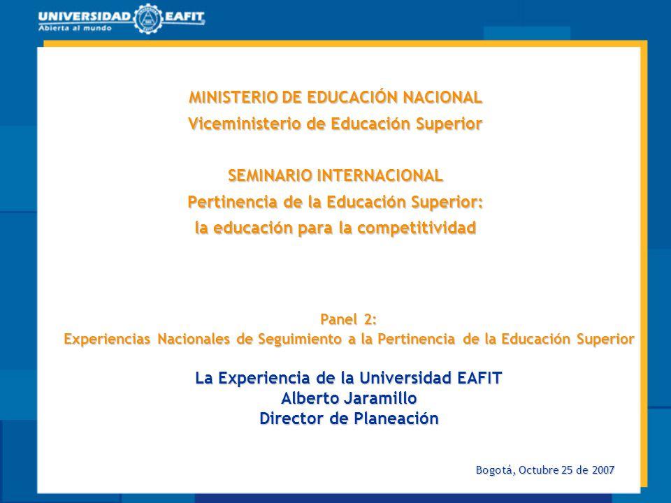 La Experiencia de la Universidad EAFIT Director de Planeación