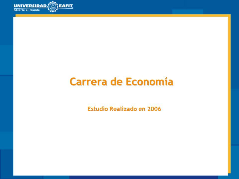 Carrera de Economía Estudio Realizado en 2006