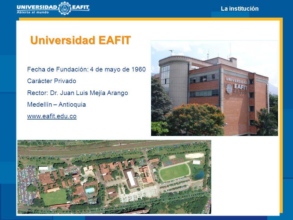 Universidad EAFIT Fecha de Fundación: 4 de mayo de 1960