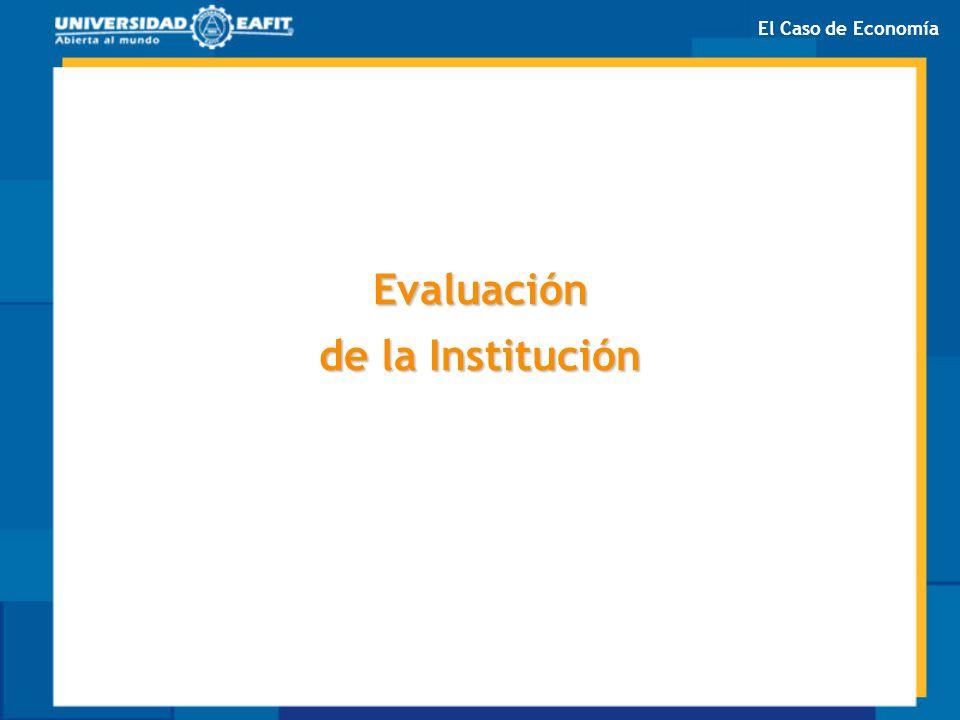 Evaluación de la Institución