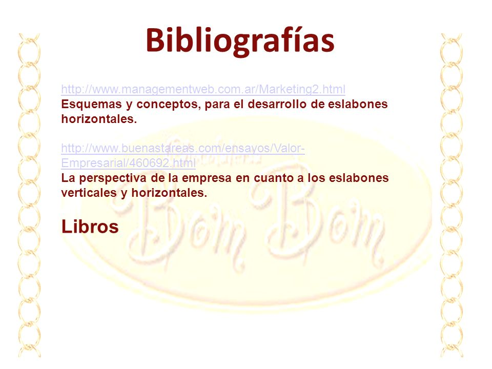 Bibliografías Libros http://www.managementweb.com.ar/Marketing2.html