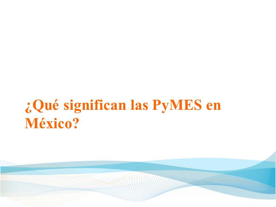 ¿Qué significan las PyMES en México