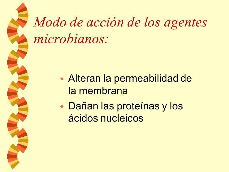 Modo de acción de los agentes microbianos: