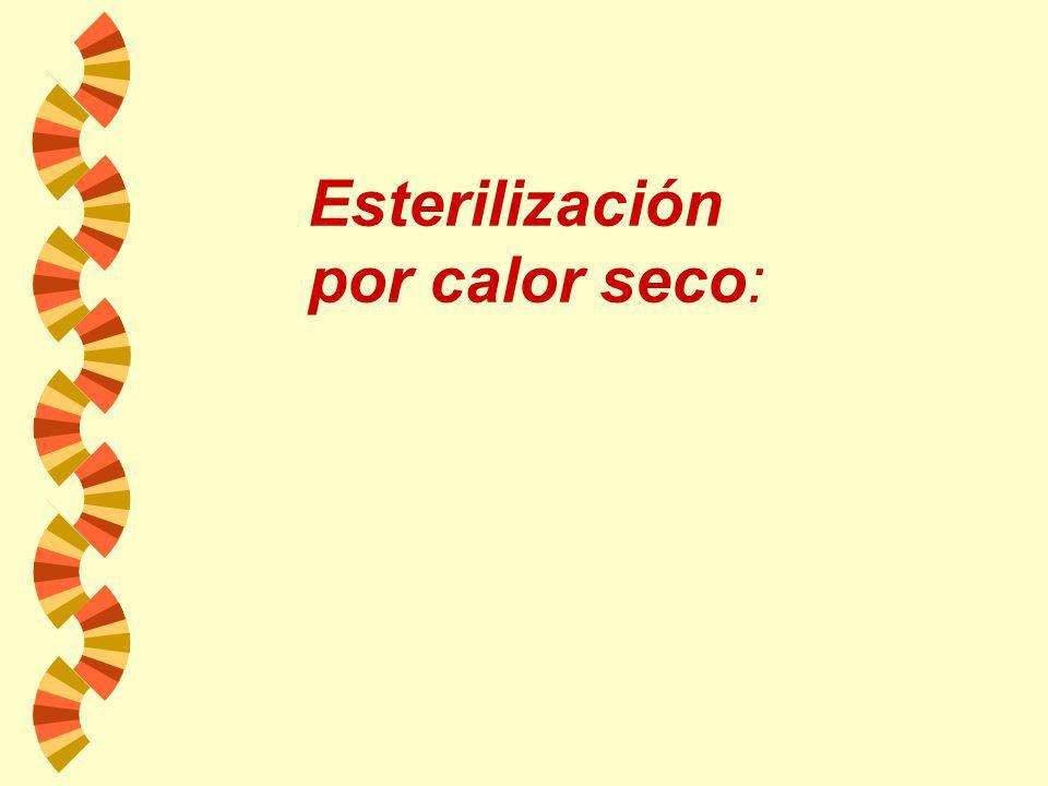 Esterilización por calor seco: