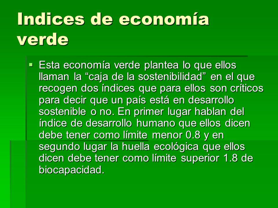 Indices de economía verde