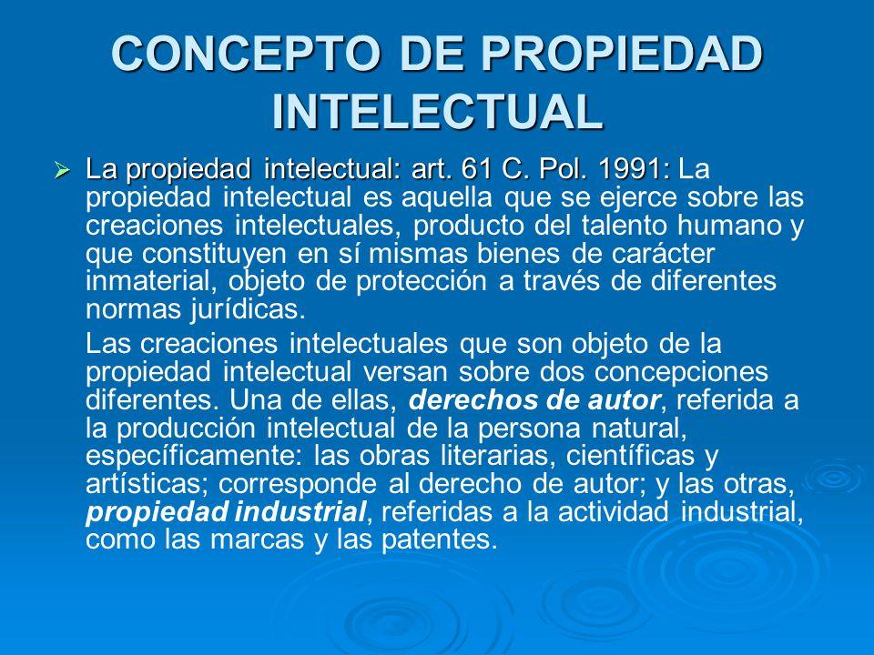 CONCEPTO DE PROPIEDAD INTELECTUAL
