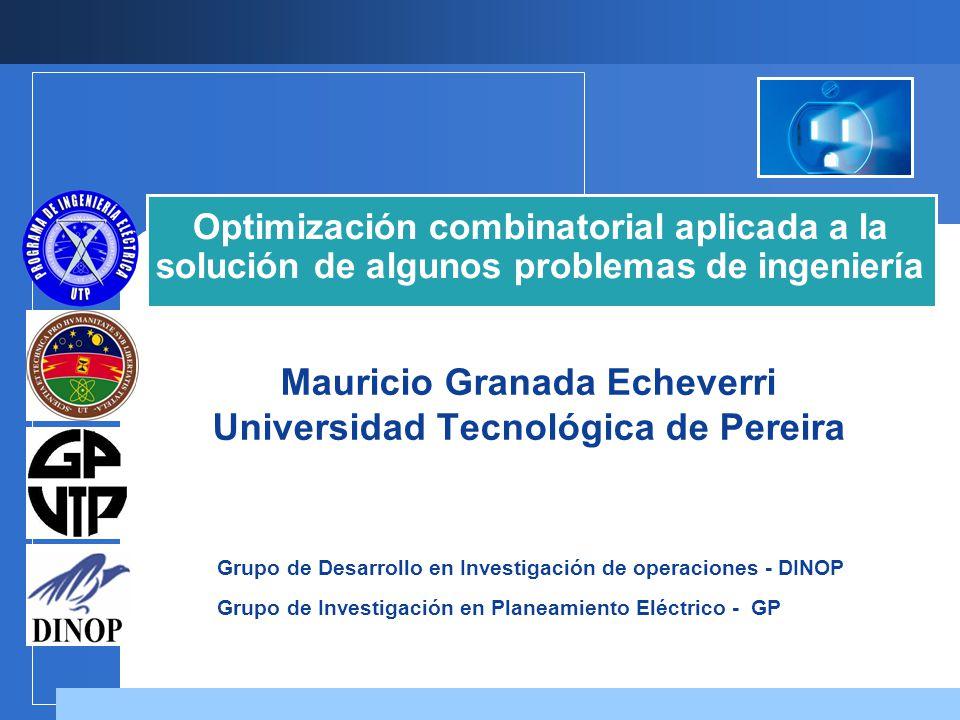 Mauricio Granada Echeverri Universidad Tecnológica de Pereira