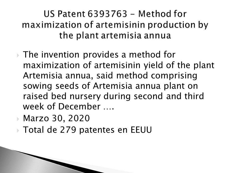 Total de 279 patentes en EEUU