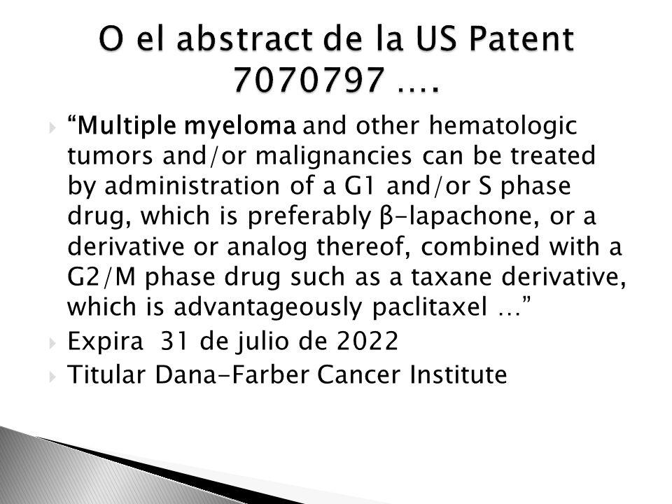 O el abstract de la US Patent 7070797 ….