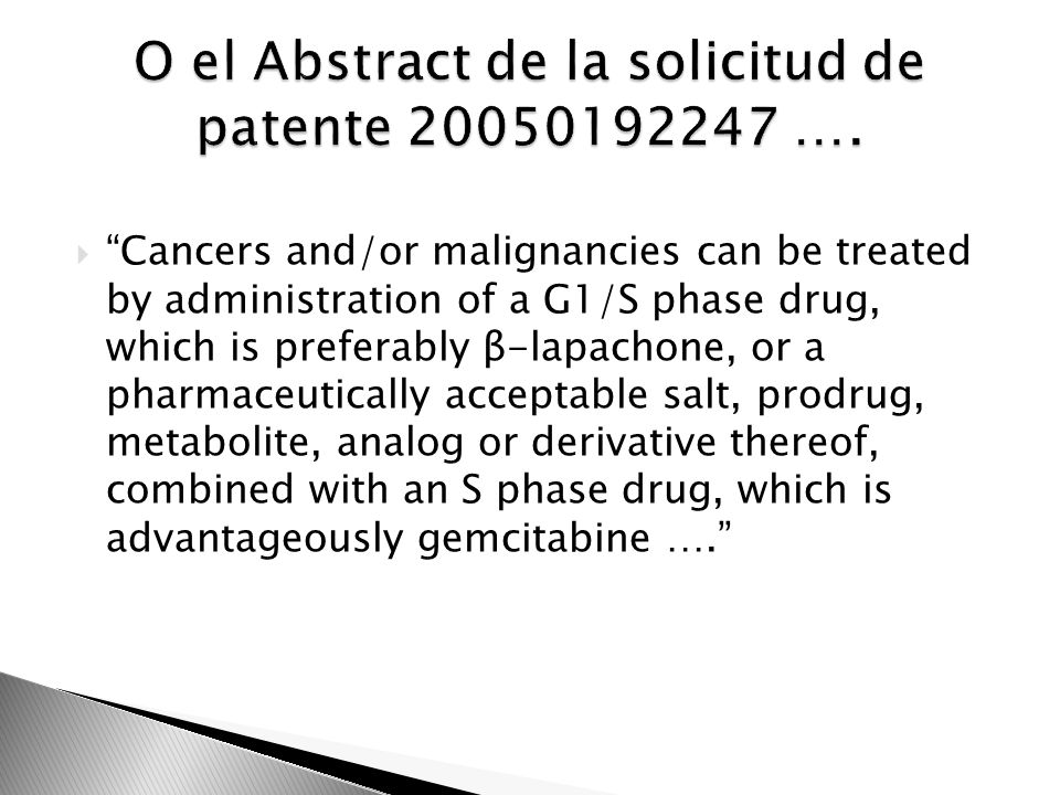 O el Abstract de la solicitud de patente 20050192247 ….