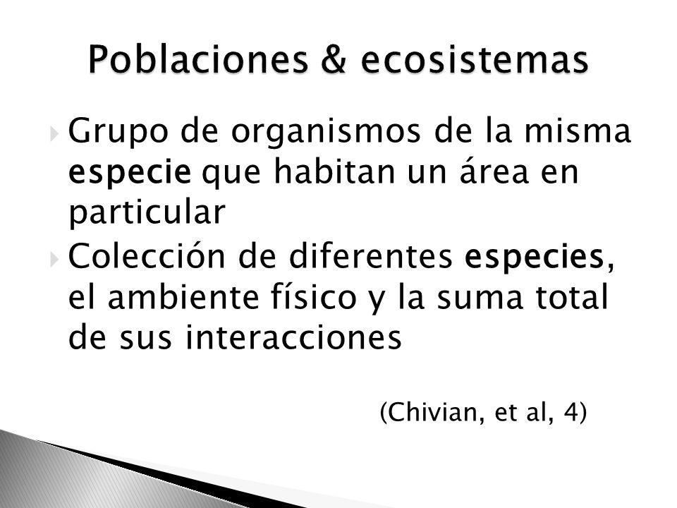 Poblaciones & ecosistemas