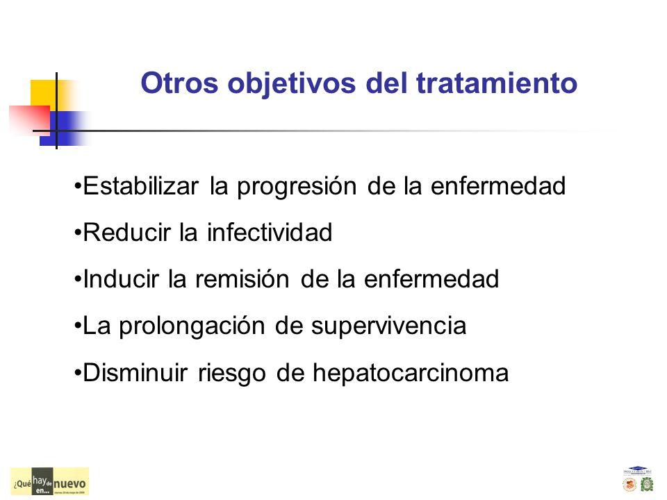 Otros objetivos del tratamiento