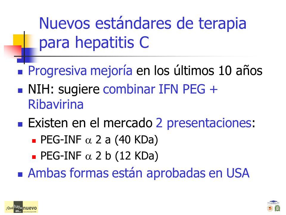 Nuevos estándares de terapia para hepatitis C
