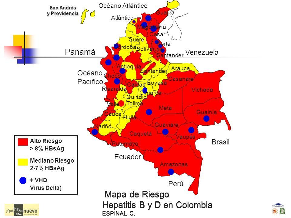 Mapa de Riesgo Hepatitis B y D en Colombia ESPINAL C.