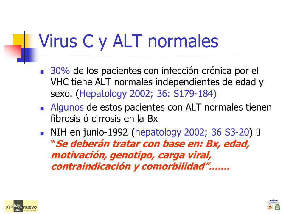 Virus C y ALT normales