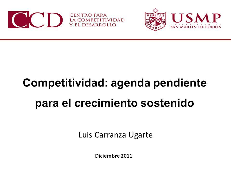 Competitividad: agenda pendiente para el crecimiento sostenido