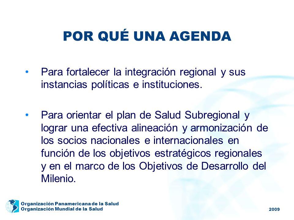 POR QUÉ UNA AGENDAPara fortalecer la integración regional y sus instancias políticas e instituciones.