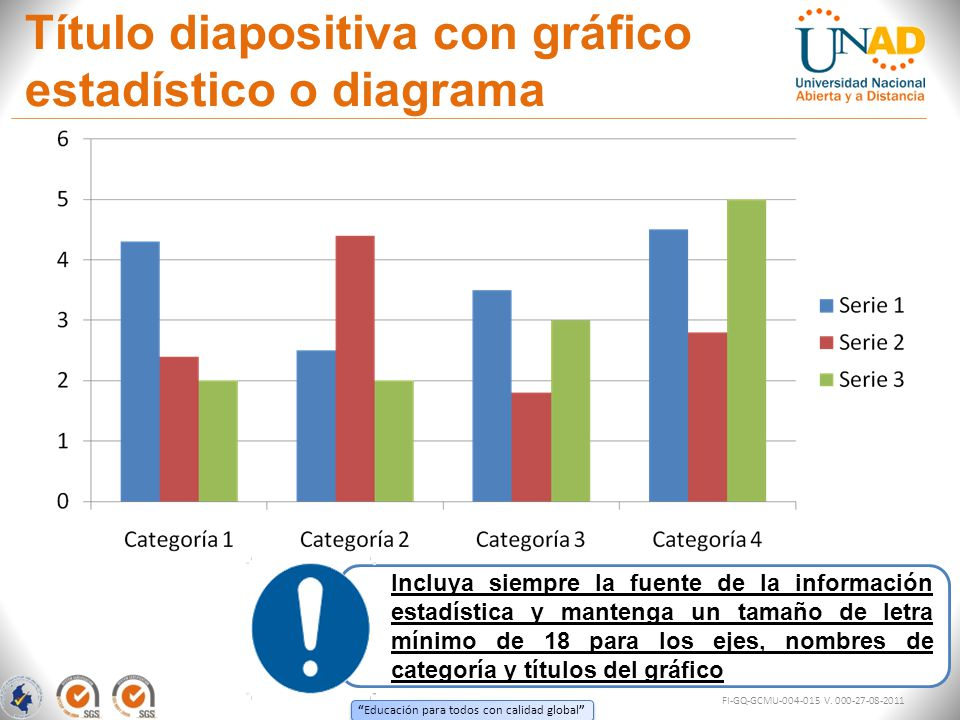 Título diapositiva con gráfico estadístico o diagrama