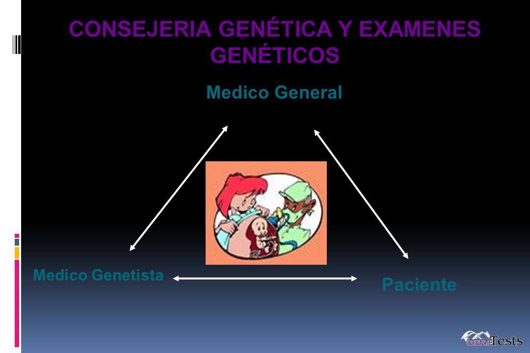 CONSEJERIA GENÉTICA Y EXAMENES GENÉTICOS
