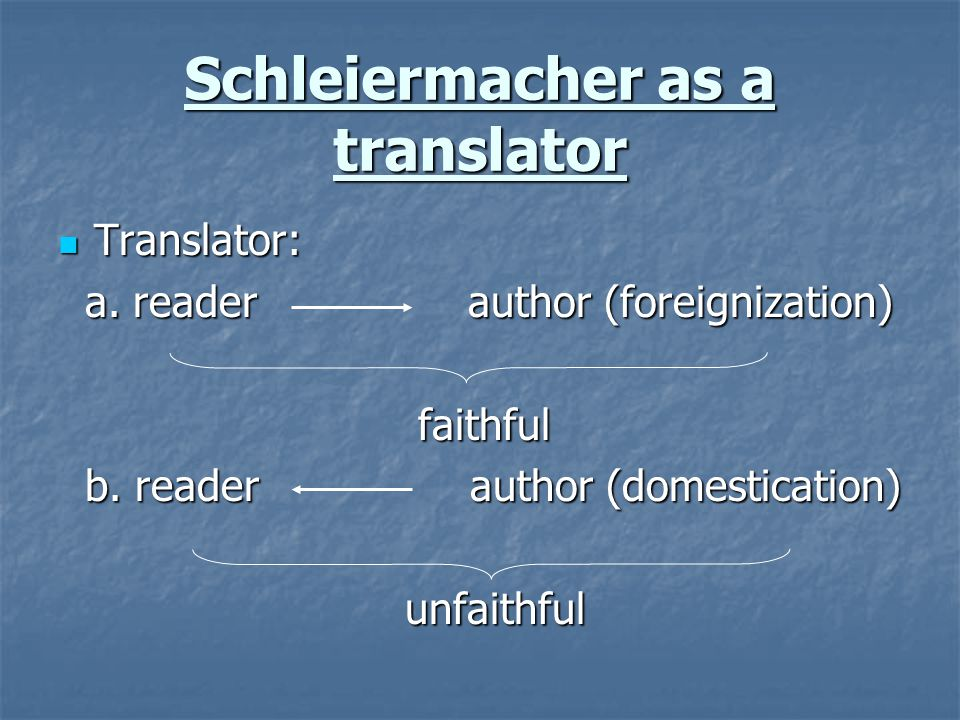 Schleiermacher as a translator