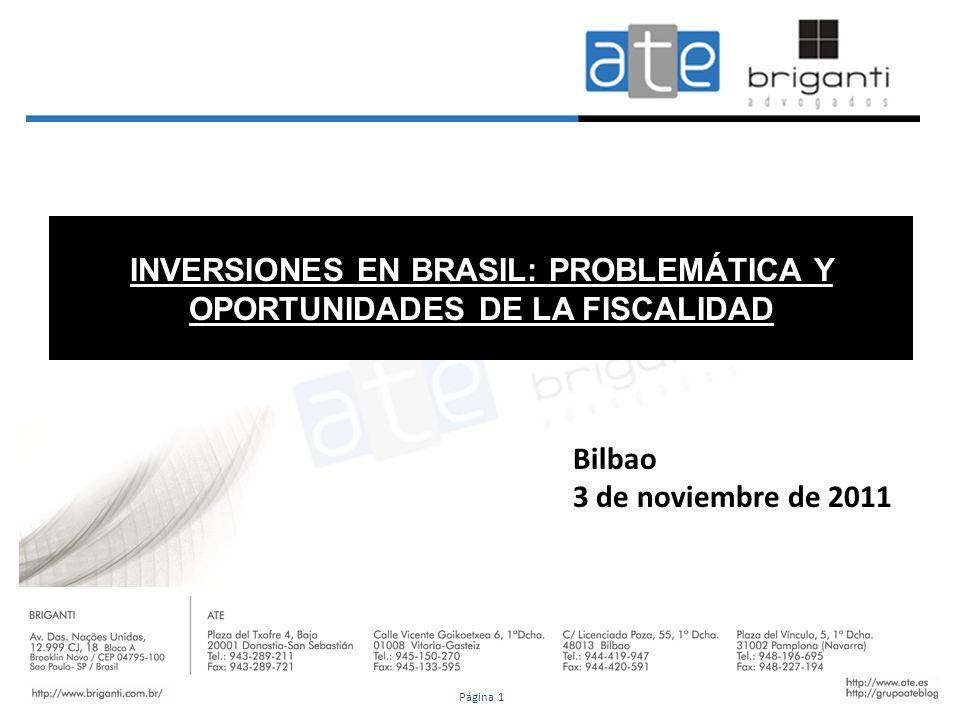 INVERSIONES EN BRASIL: PROBLEMÁTICA Y OPORTUNIDADES DE LA FISCALIDAD