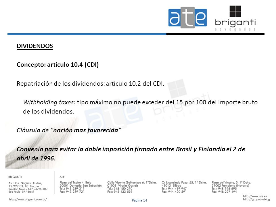 Concepto: artículo 10.4 (CDI)