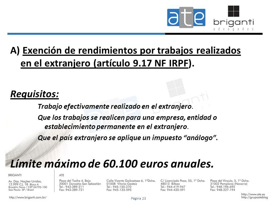 Límite máximo de 60.100 euros anuales.