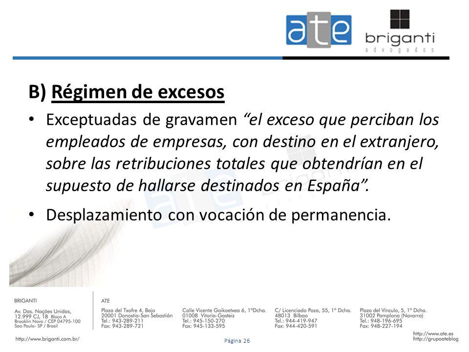 24/01/12B) Régimen de excesos.