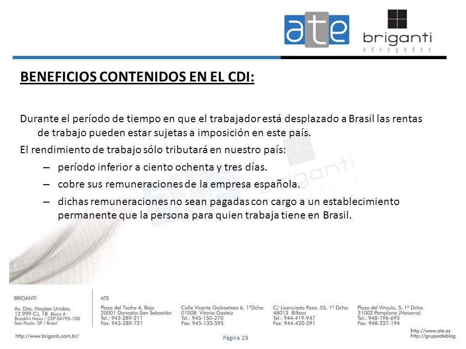 BENEFICIOS CONTENIDOS EN EL CDI: