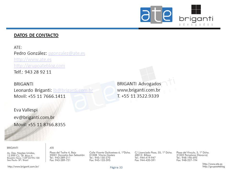 Pedro González: pgonzalez@ate.es http://www.ate.es