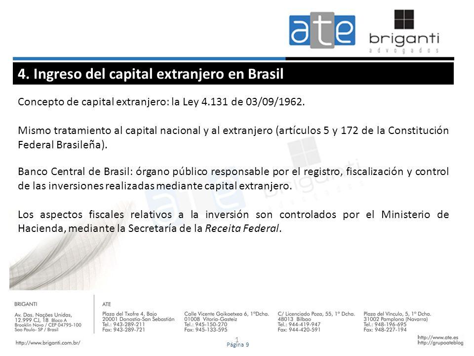 4. Ingreso del capital extranjero en Brasil