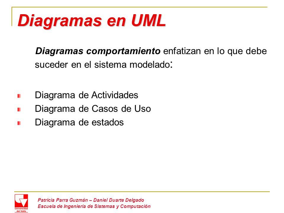 Diagramas en UML Diagrama de Actividades Diagrama de Casos de Uso
