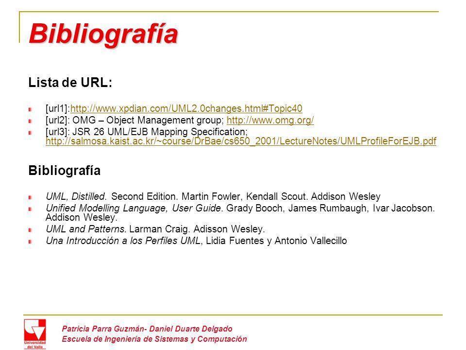 Bibliografía Lista de URL: Bibliografía