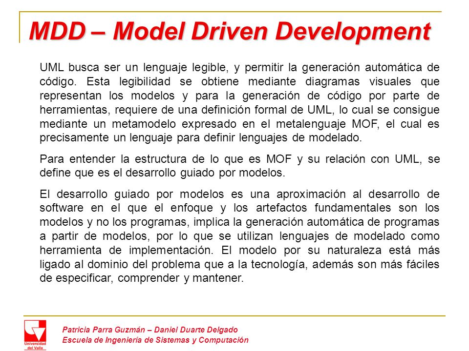 MDD – Model Driven Development