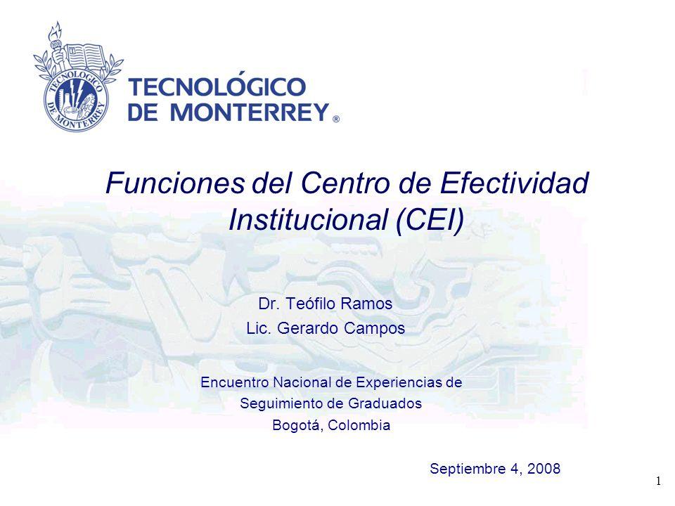 Funciones del Centro de Efectividad Institucional (CEI)