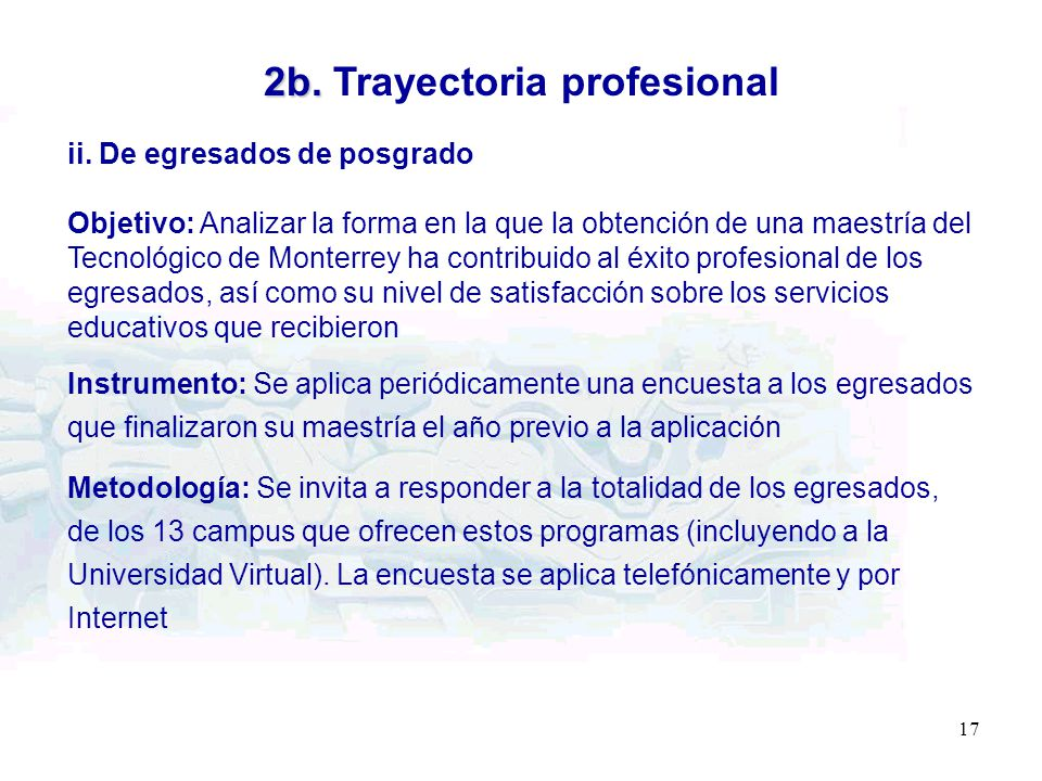 2b. Trayectoria profesional