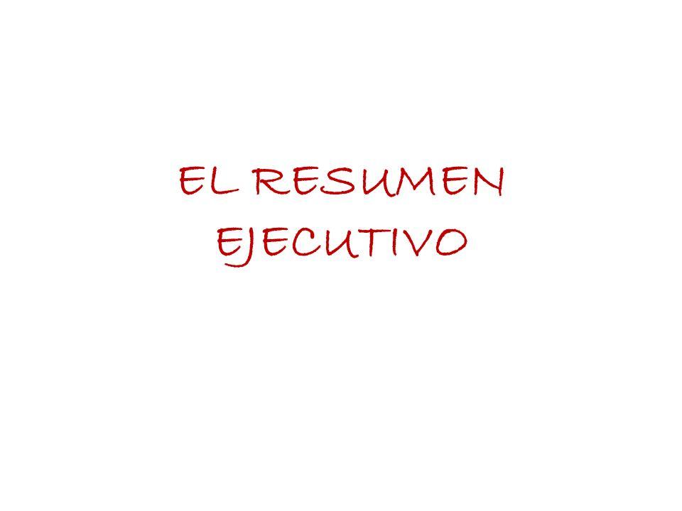 EL RESUMEN EJECUTIVO