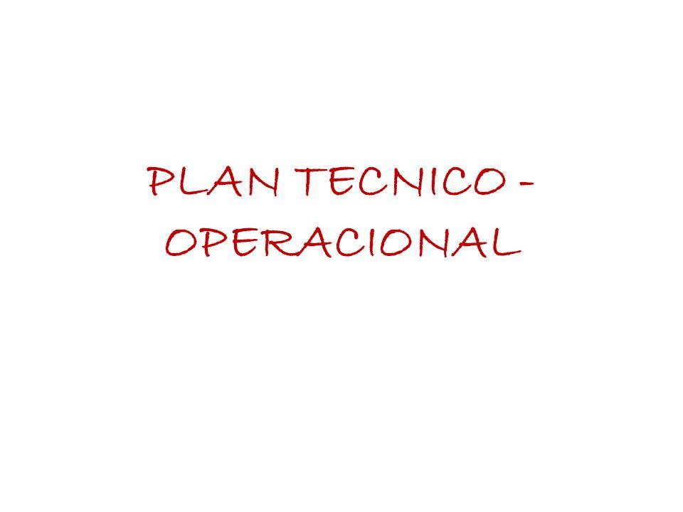 PLAN TECNICO - OPERACIONAL