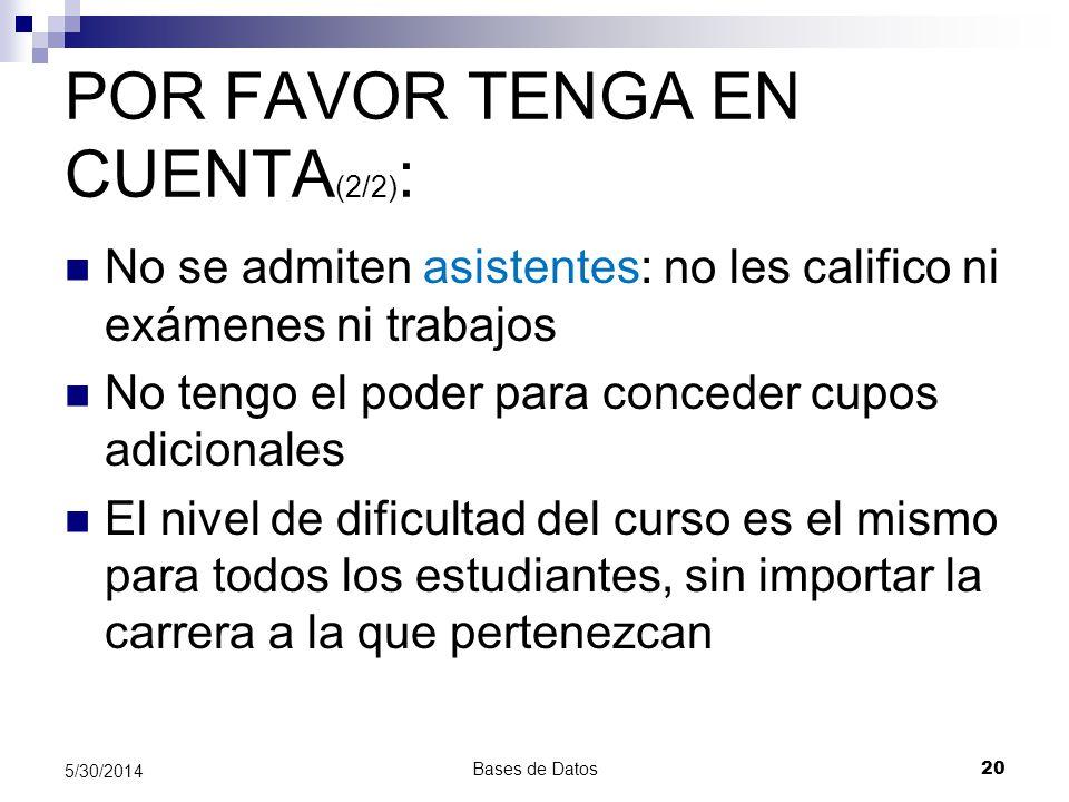 POR FAVOR TENGA EN CUENTA(2/2):