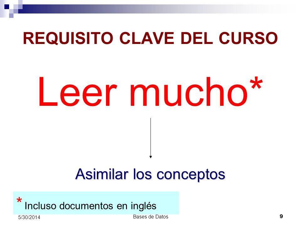 REQUISITO CLAVE DEL CURSO