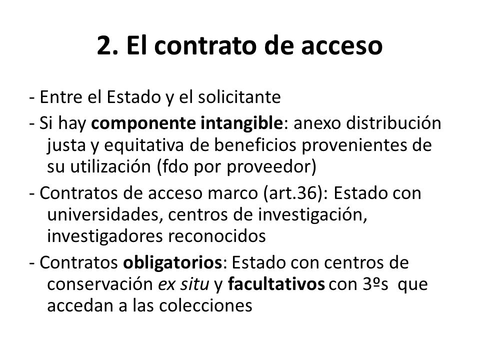 2. El contrato de acceso