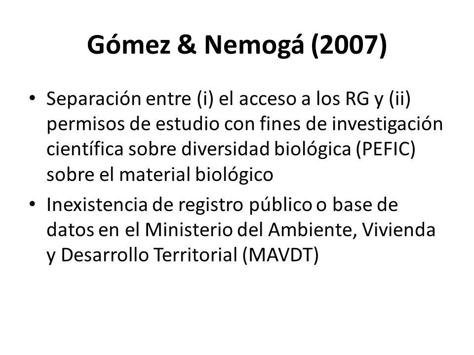 Gómez & Nemogá (2007)