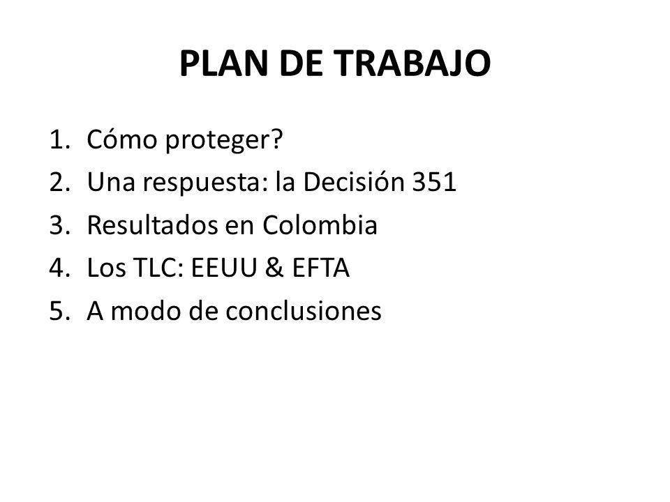 PLAN DE TRABAJO Cómo proteger Una respuesta: la Decisión 351