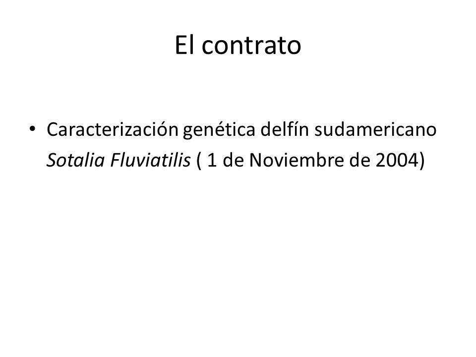 El contrato Caracterización genética delfín sudamericano